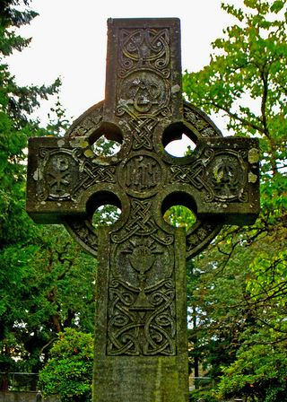 Celtic cross stone