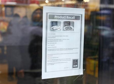 Horsemeat recall suzanne plunkett_reuters